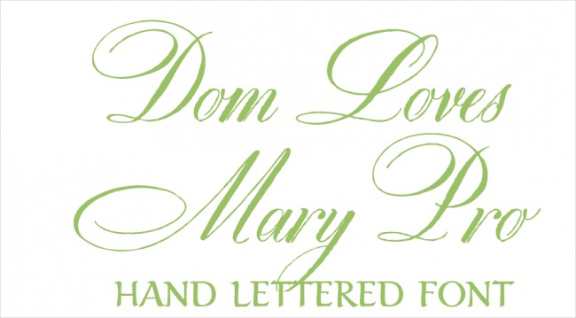 Dom Loves Mary Hand Lifted Font