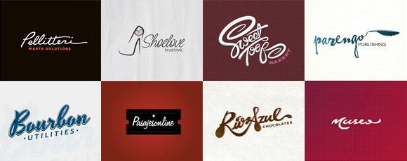 Inspiring Cursive Typography Logos