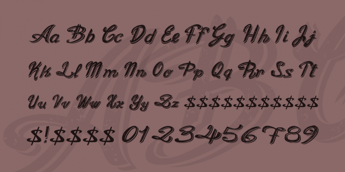 Old Figaro Engish cursive font
