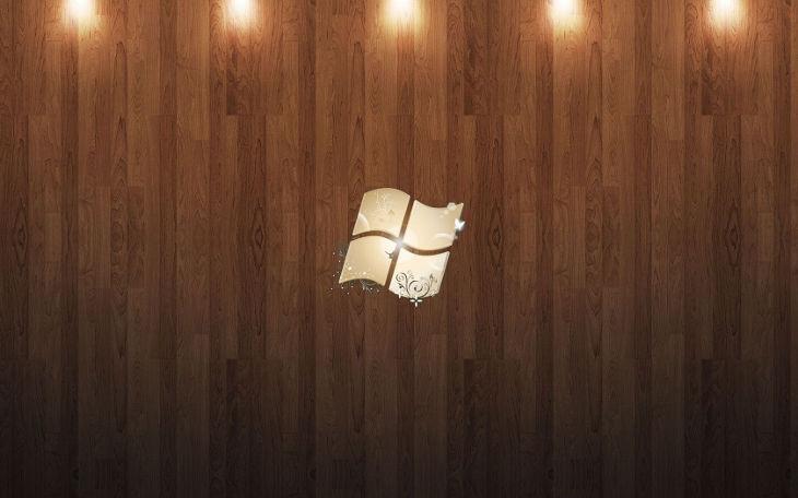 Windows 7 Wood Background