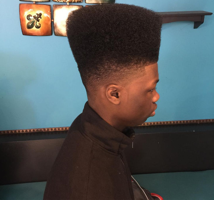 high top faded hair for black men