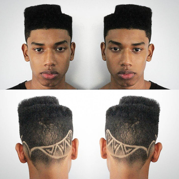different two level top fade hairstyle