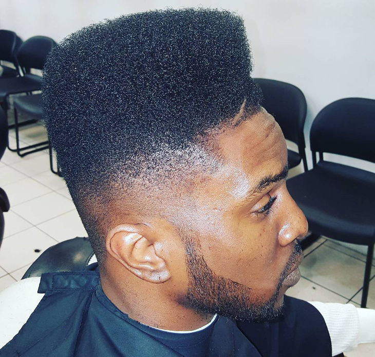 high top fade with polished finish hairstyle