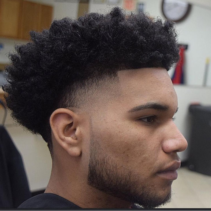 Men With High Curly Top Hairstyle Design