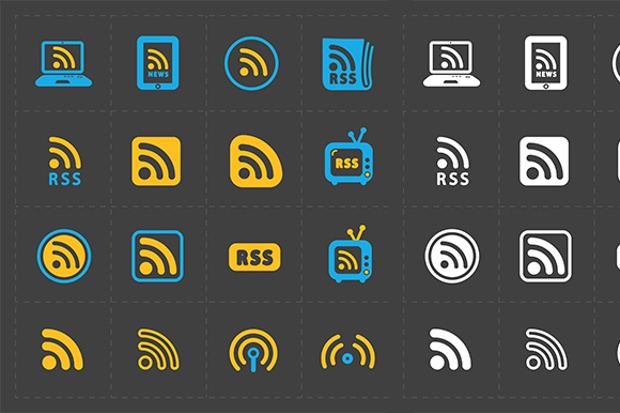 rss sign icons in a few variants
