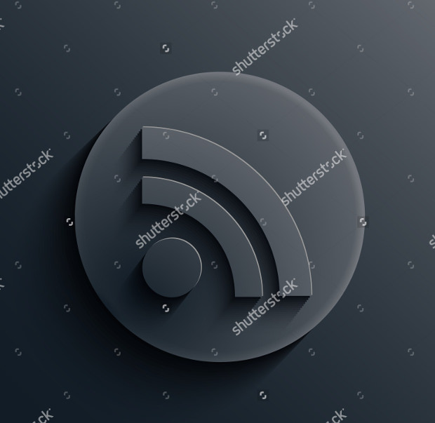dark circle rss icons