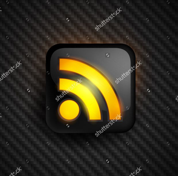 vector design of trendy rss icon