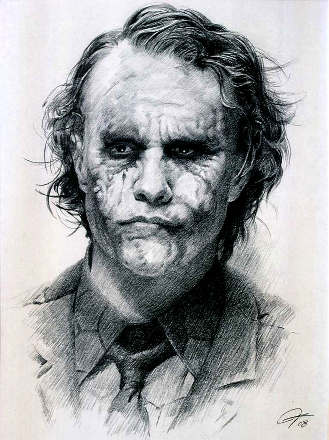 joker charcoal drawing