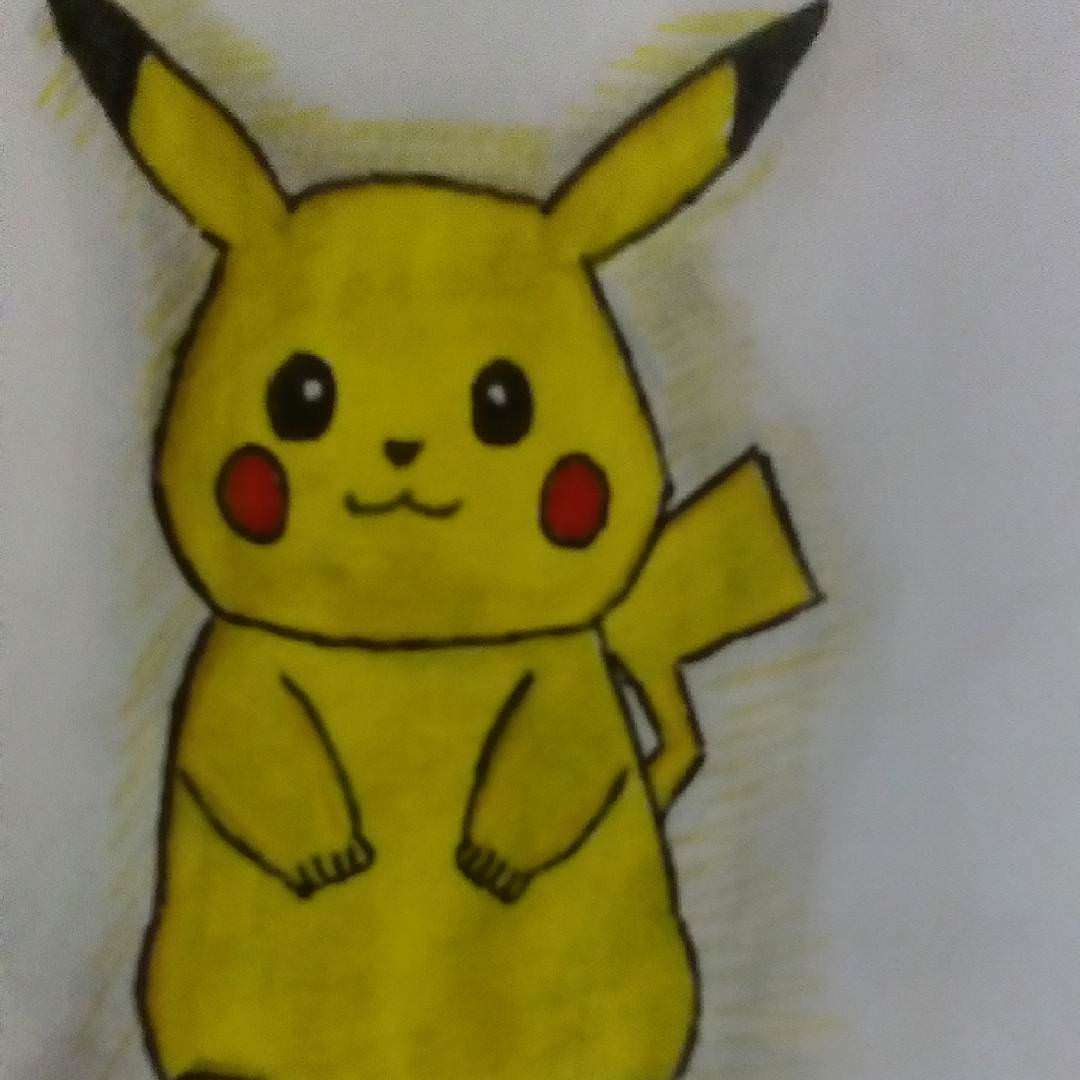 Pickachu cartoon drawing