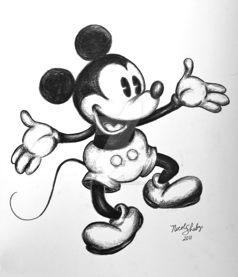 Classic Mickey Mouse Drawing