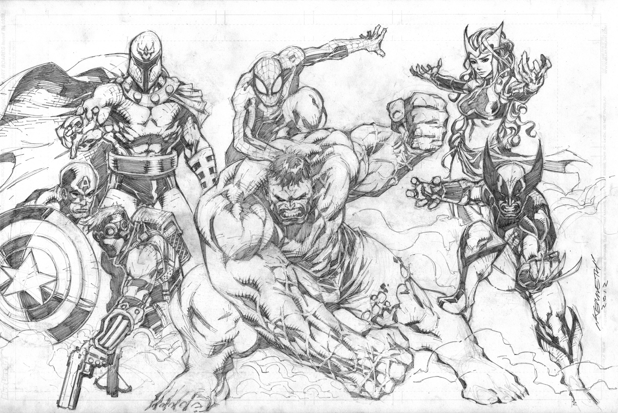 marvel cartoon drawings