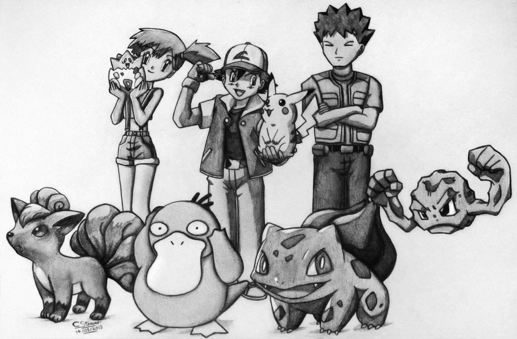 Pokemon Cartoon Drawing
