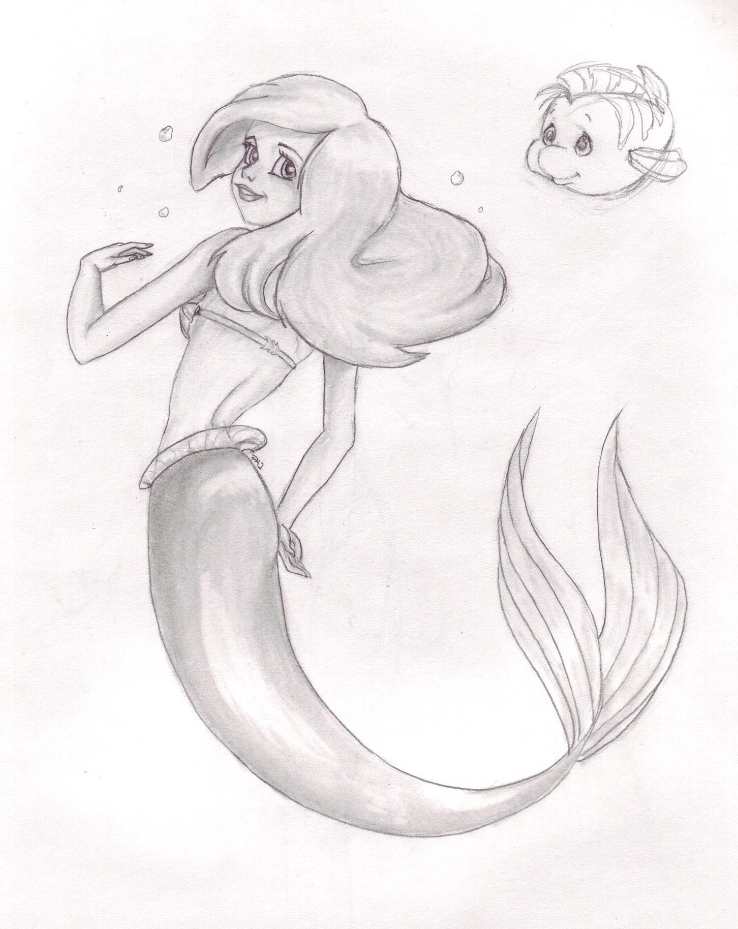 The Little Mermaid Drawing