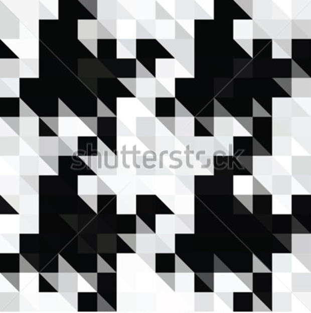 Abstract Pixel Houndstooth Pattern