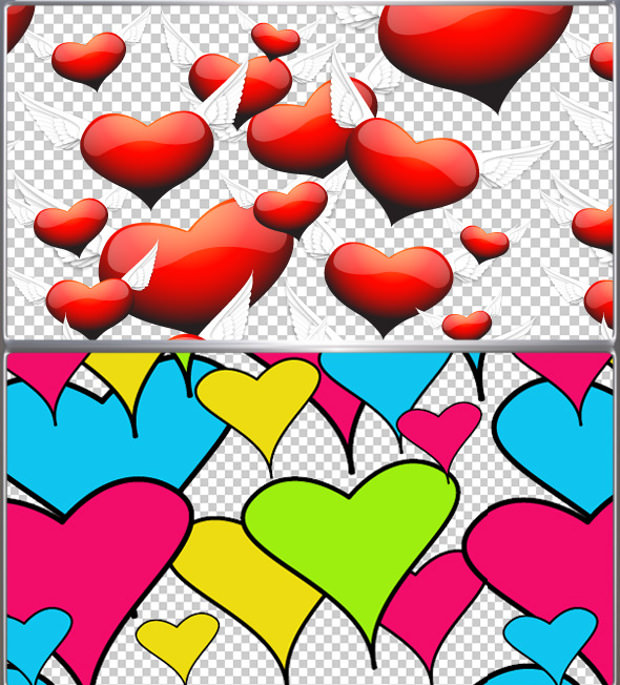 High Resolution Two Hearts Pattern