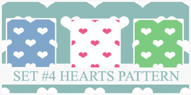Four Different Heart Patterns