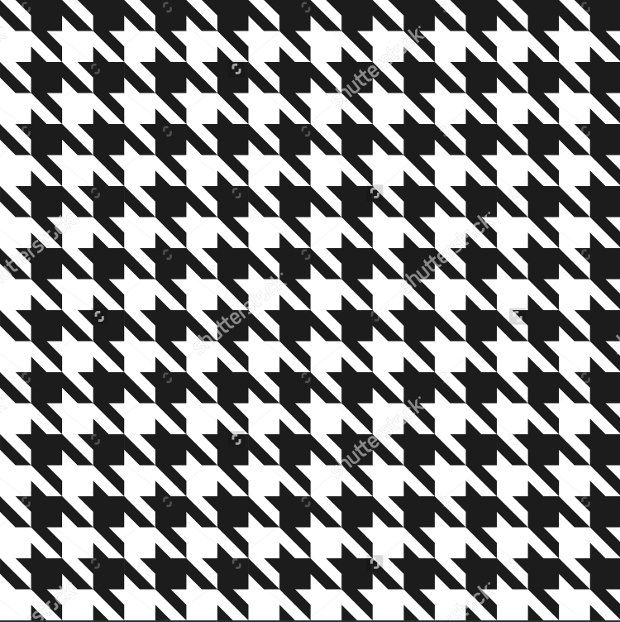 Houndstooth Black and White Vector Pattern