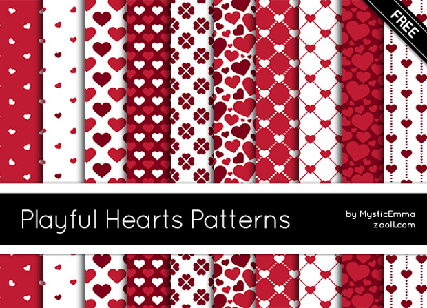 Different Playful Patterns of Heart
