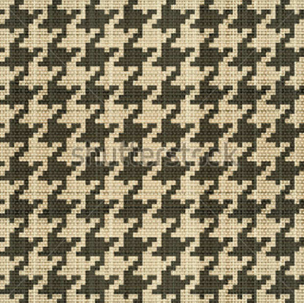 Abstract Classic Houndstooth Pattern