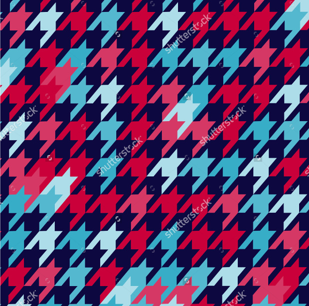 Colorful Houndstooth Pattern