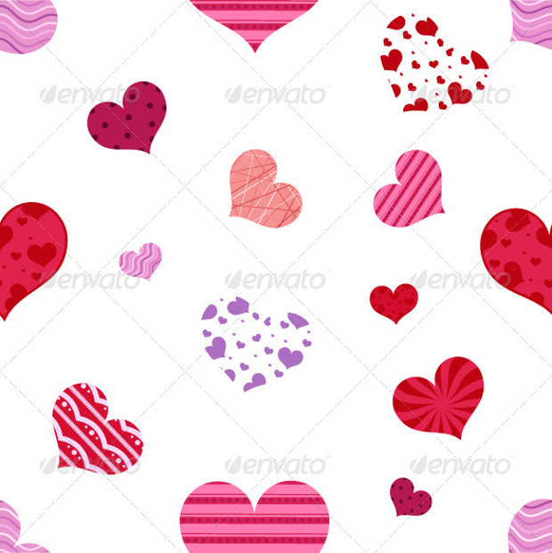 Valentines Patterns of Heart