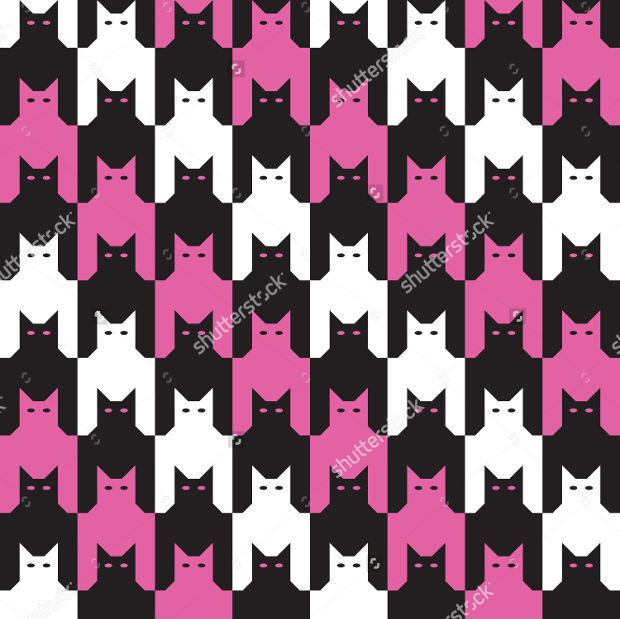 Cats Houndstooth Pattern