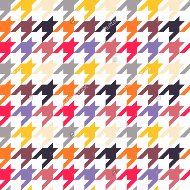 Seamless Colorful Houndstooth Pattern