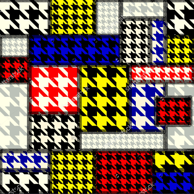 Patchwork with Houndstooth Pattern