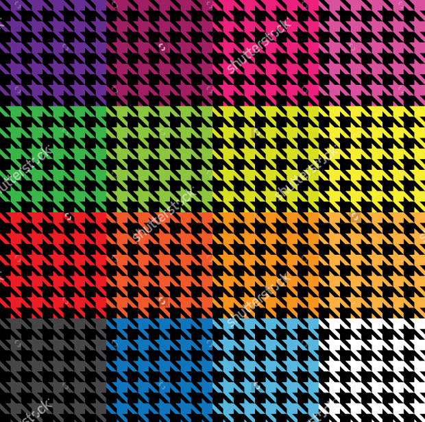 Trendy Houndstooth Colorful Pattern
