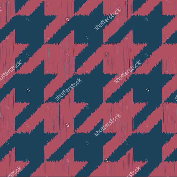 Seamless Dark Blue Houndstooth Pattern