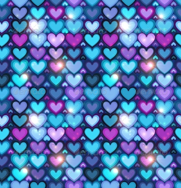 Colored Hearts Pattern