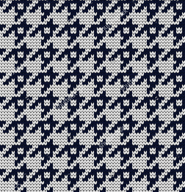 Knitted Seamless Houndstooth Pattern