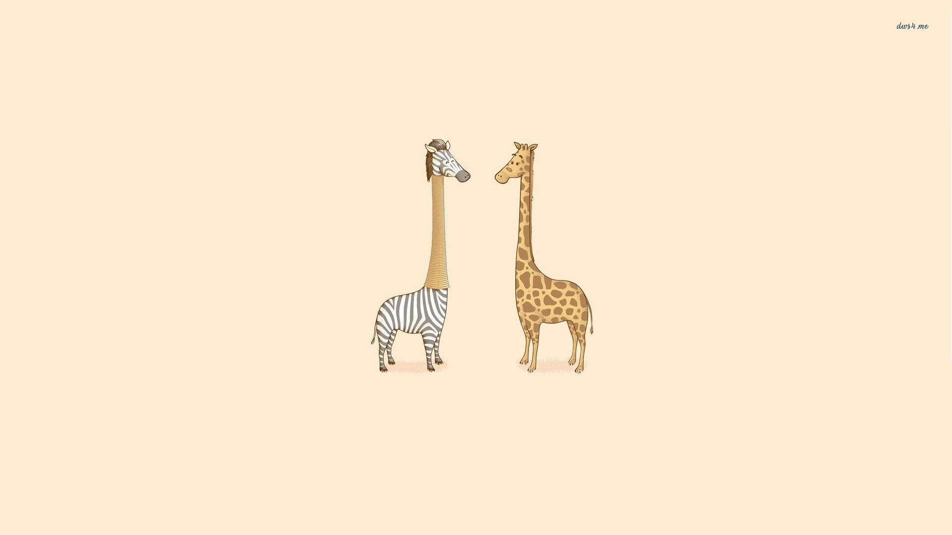 long neck zebra and giraffe drawing