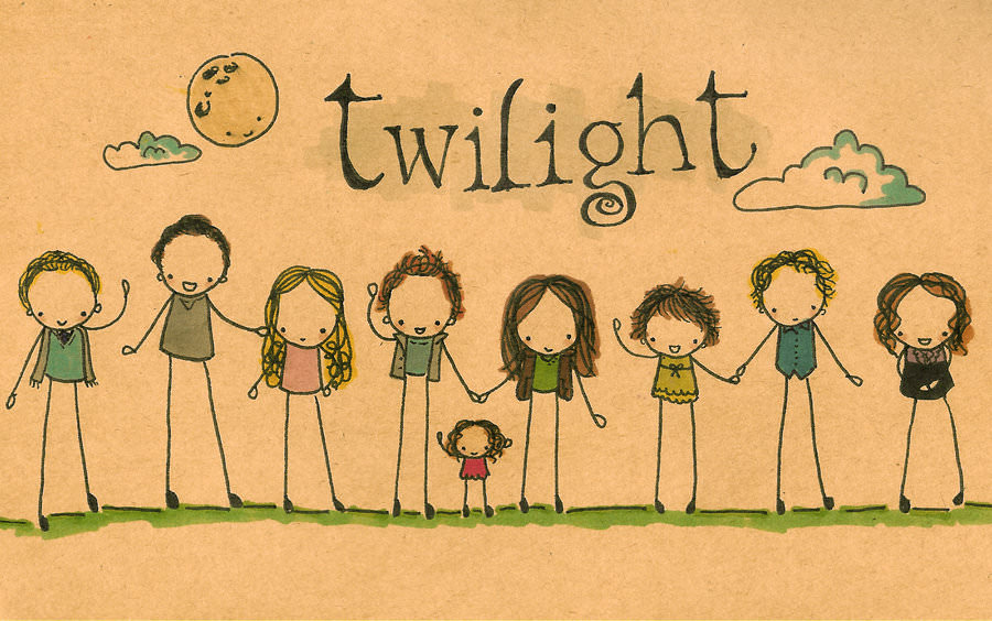 Funny Cullen Twilight Family Drawing