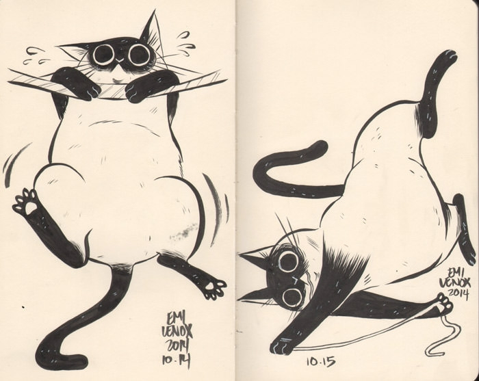 Hilariously Adorable Cat Drawing