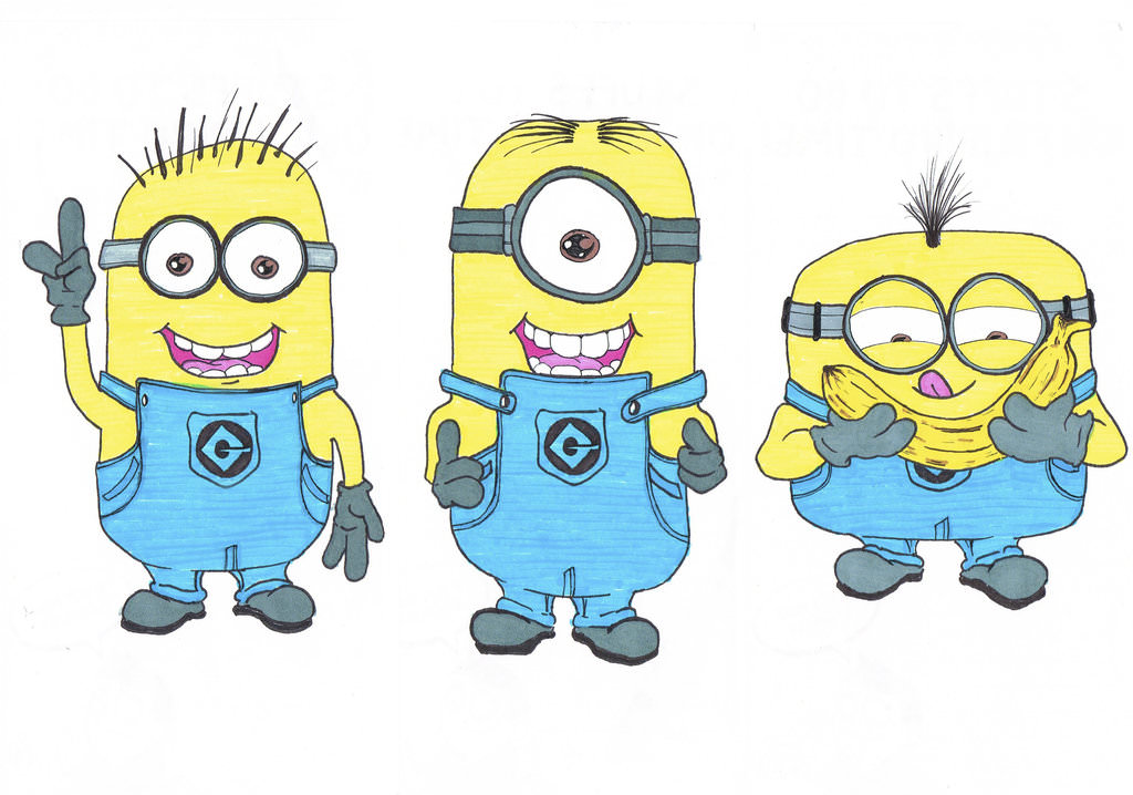 funny minions drawing