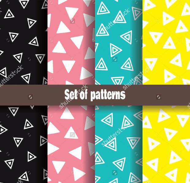 Triangle Shaped Drawn Patterns