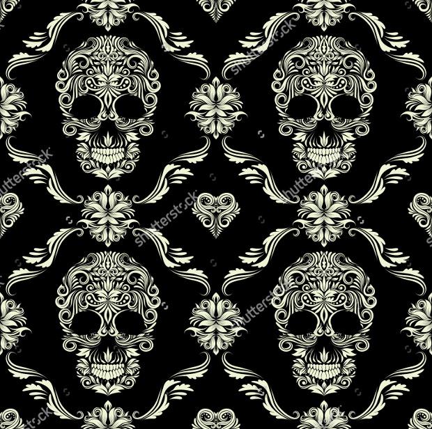 ornamental skull pattern