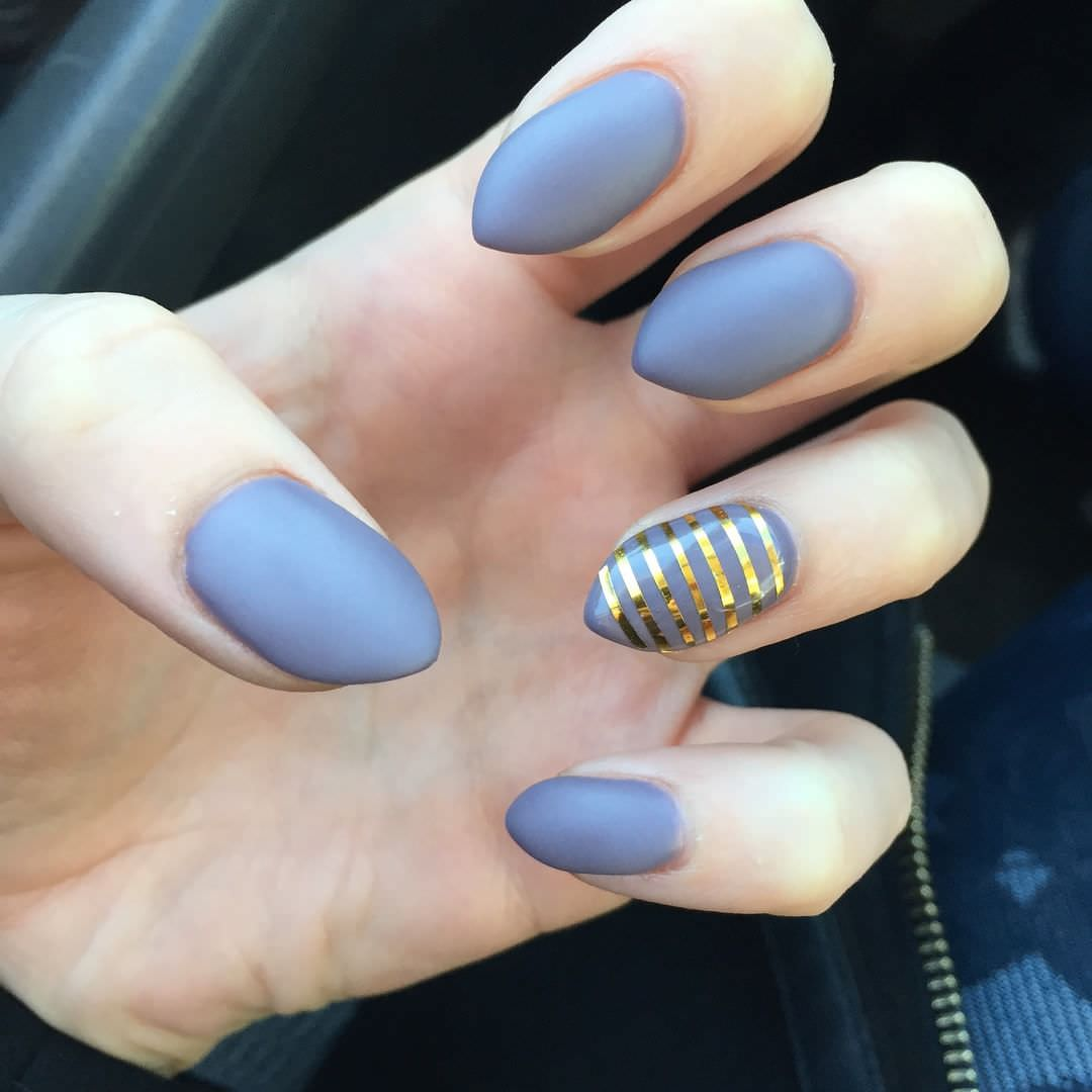 beautiful simple short stiletto nails