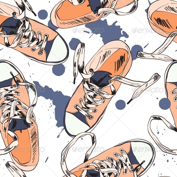 Seamless Gumshoes Pattern