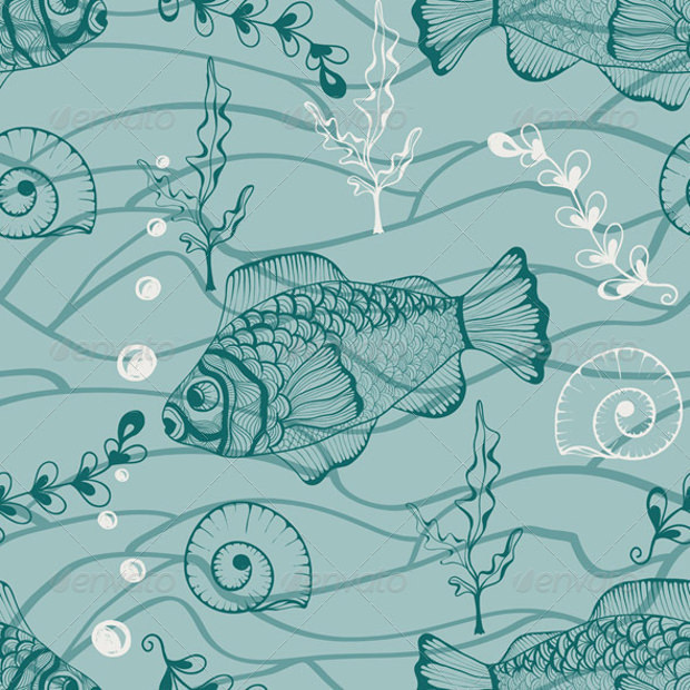 vector under water seamless pattern