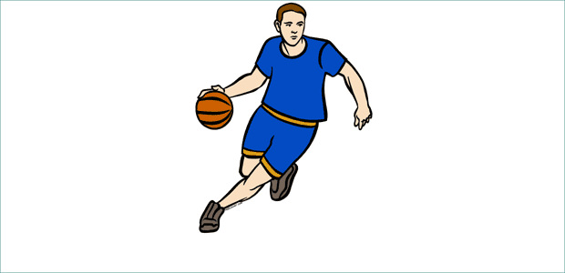 Energetic Player Basketball Clipart