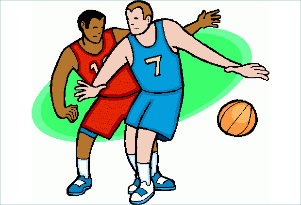 Two Players Basketball Clipart