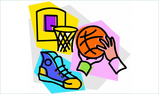 Shoes and Basketball Clipart