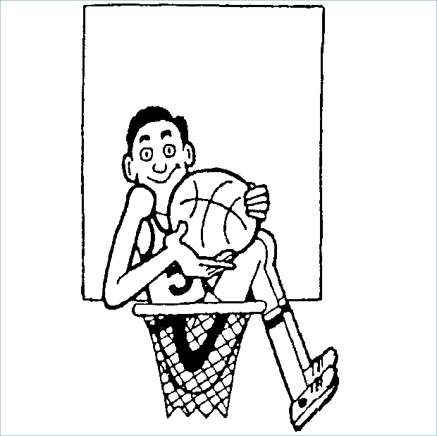 Funny Boy Basketball Clipart