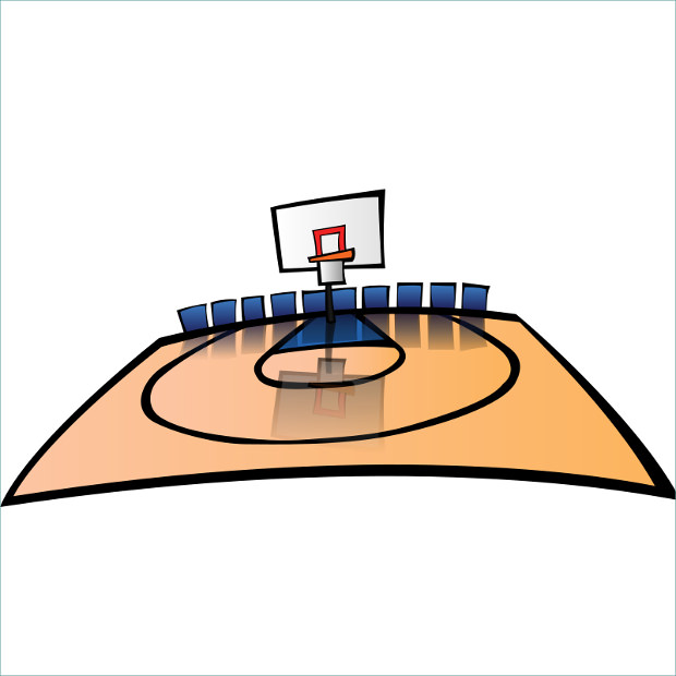 Court of Basketball Clipart