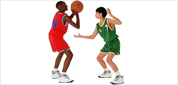 Fighting for Basketball Clipart