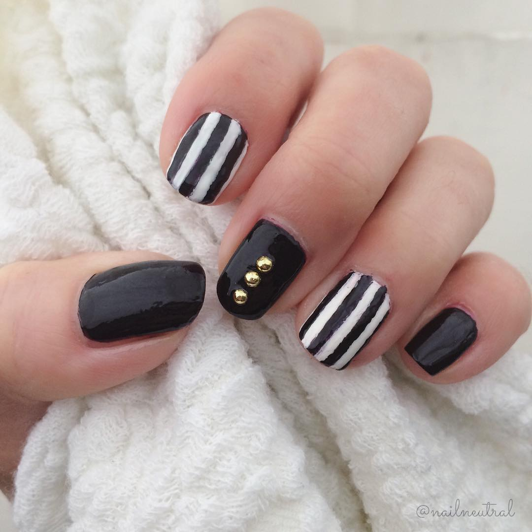 30+ Stripe Nail Art Designs, Ideas | Design Trends - Premium PSD ...