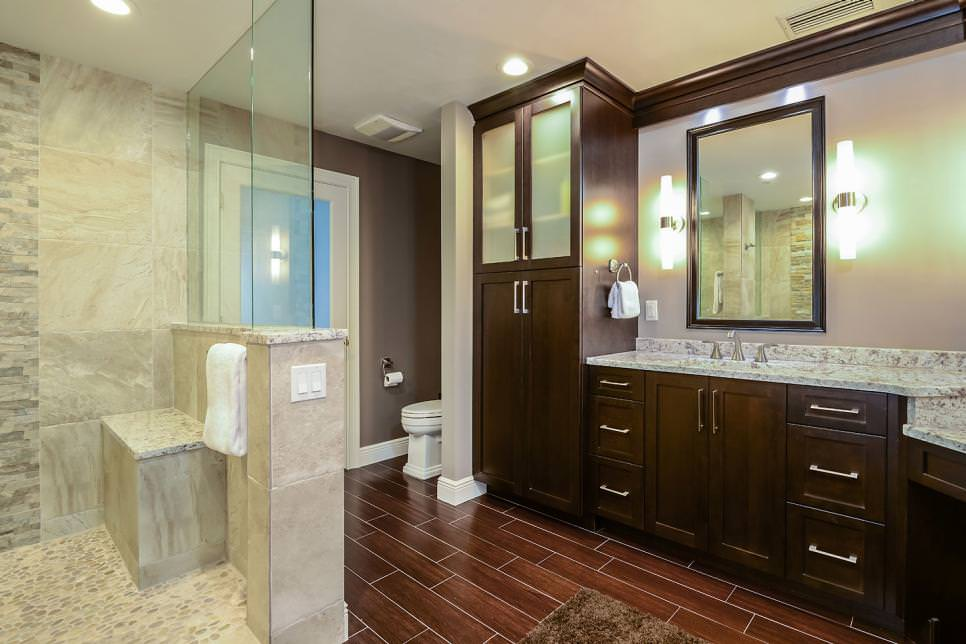 dark brown bathroom cabinets 23 brown bathroom designs decorating ideas design 18041