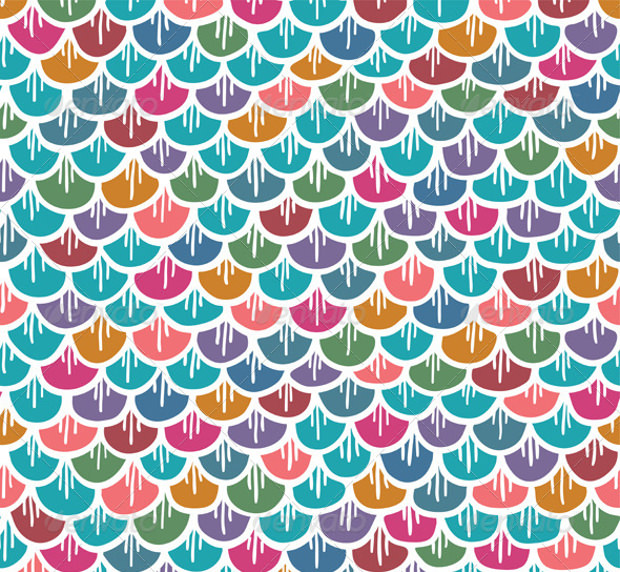 colorful seamless fish pattern